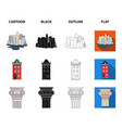 drawing accessories metropolis house model vector image vector image