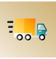 Fast shipping and delivery halftone stylized vector image vector image