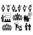 foreign maid agency stick figure pictograph icons vector image vector image