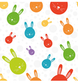 Funny bunny seamless colorful pattern vector image
