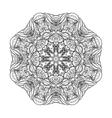 graphic coral circle ornament vector image