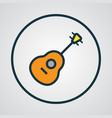 guitar colorful outline symbol premium quality vector image