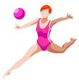 Gymnastics Rhythmic Ball 2016 Sports 3D vector image