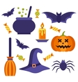 Halloween icons set vector image