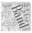 Hiring A Band For A New Years Eve Party Word Cloud vector image vector image