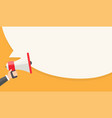 holding megaphone and speak bubble for vector image vector image