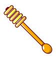 honey wood spoon icon cartoon style vector image