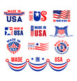 icons or bagdes for made in usa vector image vector image