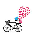 love birds with bicycle vector image vector image