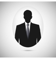 Male person silhouette Profile picture whith tie vector image vector image