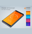 mobile ui concept vector image vector image