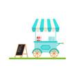 modern minimalist street cart design with vector image