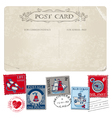 Nautical postcard and postage stamps vector | Price: 3 Credits (USD $3)