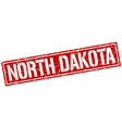 north dakota red square stamp vector image vector image