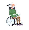 Old man eldery in wheelchair character