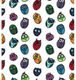 Owls hand drawn seamless pattern vector image vector image