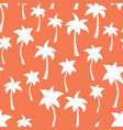 palm tree silhouettes seamless pattern vector image