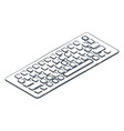 pc keyboard with buttons to input information vector image vector image