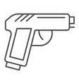 pistol thin line icon gun vector image vector image