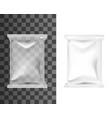 pouch bag sachet pack blank plastic foil package vector image