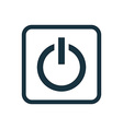 power on icon Rounded squares button vector image vector image
