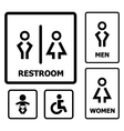 Restroom Sign set vector image vector image