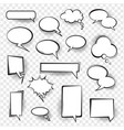 retro comic empty speech bubbles set for message vector image vector image
