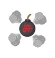 Round bomb ninja cartoon icon vector image vector image