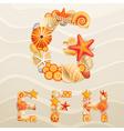 sea life font vector image vector image