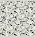 seamless pattern in style hand-drawn vector image vector image