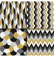 set colorful geometric seamless patterns vector image