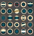 set empty retro vintage badges 4 vector image vector image