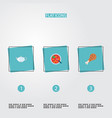 set of food icons flat style symbols with kettle vector image