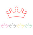 set of princess crowns vector image vector image