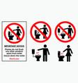 set sanitary sign vector image vector image
