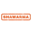 Shawarma Rubber Stamp vector image vector image