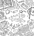 Square background of school supplies vector image vector image