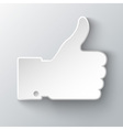 thumb up applique vector image vector image