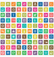 time management 100 icons universal set for web vector image