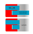 trendy business card vector image vector image