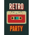 Typographic Retro Party poster design vector image vector image