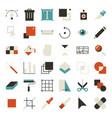 ui design tools vector image