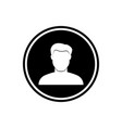 user round flat icon young man icon vector image vector image