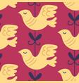 valentine dove bird seamless pattern vector image