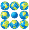 vector globes set vector image vector image