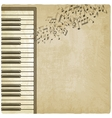 Vintage background with piano vector image vector image
