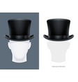 vintage classic top hat vector image