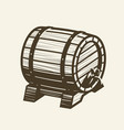 wooden barrel with faucet alcoholic drink pub vector image vector image