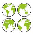 World earth design vector image vector image