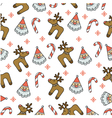 wrap cloth seamless texture for Christmas vector image